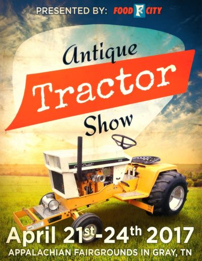Fallon Ray Art Graphic Design Layout Illustration Poster Iron Man Sign Stanchion Food City Antique Tractor Show