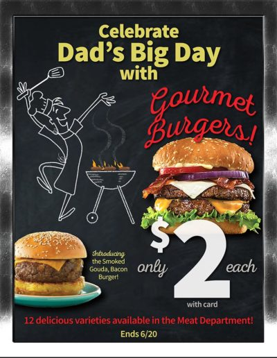 Fallon Ray Art Graphic Design Layout Illustration Poster Iron Man Sign Stanchion Food City Fathers Day Gourmet Burgers